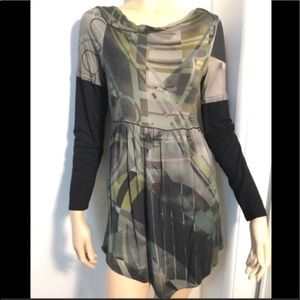 Save the Queen Legatte tunic small green